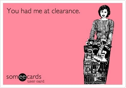 clearance shopping deals