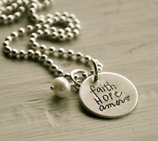 Lisa Leonard Faith Hope Amor Necklace
