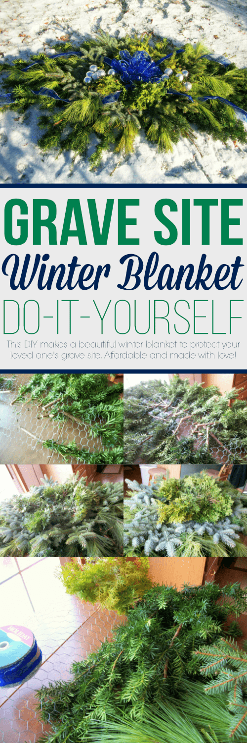 Detailed instructions to make a winter blanket to protect your loved love's grave site. Making them yourself is more affordable and made with love!