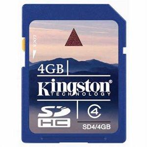 Kingston 4GB SD Card 4GB Flash Memory Card for $6.88