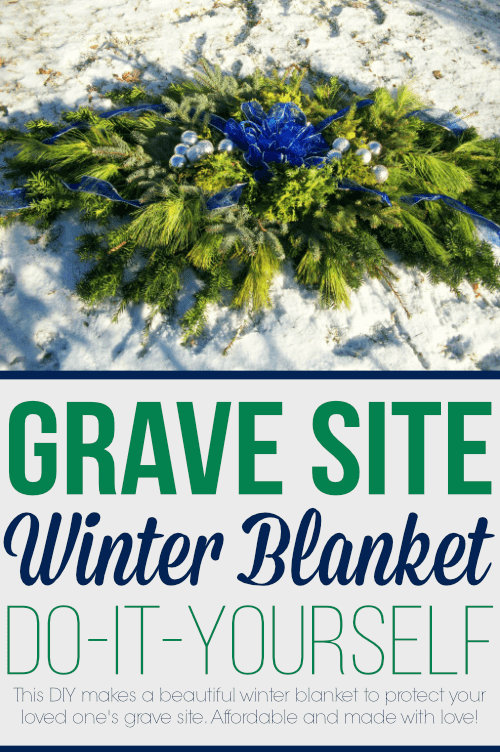 Learn how to make a blanket to cover for your loved one's grave site during the cold and winter months.