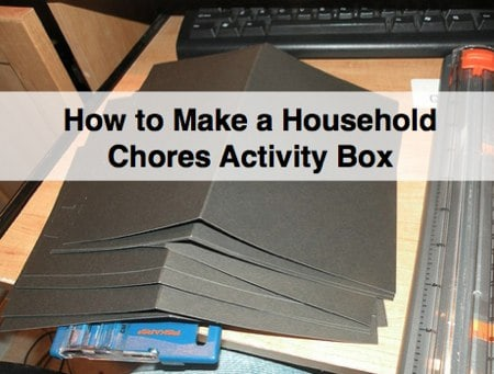 how to make a family chore chart