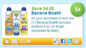 Banana boat sunscreen coupon 2018