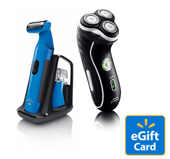 Norelco Shaver, Clipper and $10 Walmart eGift Card, as low as $18