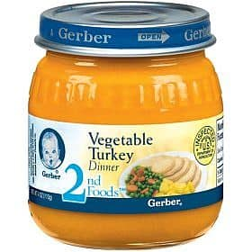 Gerber, a popular manufacturer of baby food, breaks their products down into several
