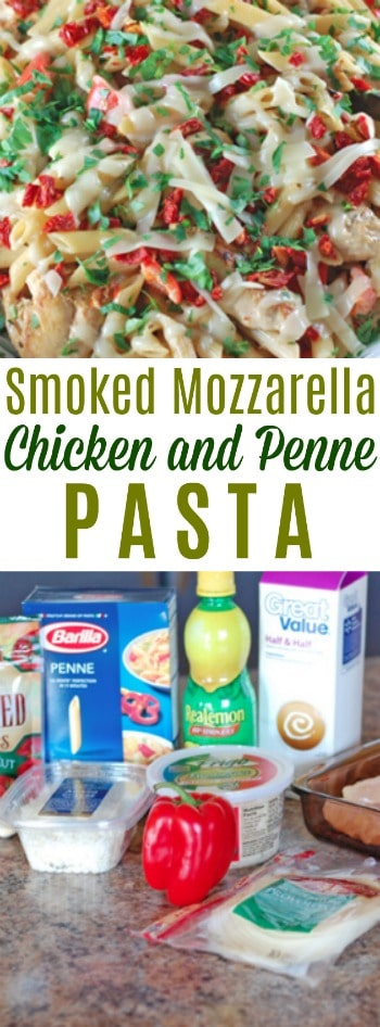 Do you love Olive Garden dishes? Try this Smoked Mozzarella Chicken and Penne Pasta and you'll swear the dinner mints are around the corner!