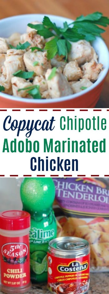 Love the adobo chicken at Chipotle? You gotta try this copycat recipe. Tastes just like the restaurant!