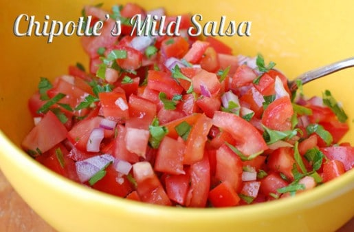 chipotle mild salsa done