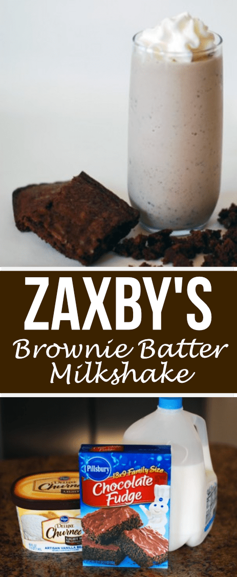 This Brownie Batter Milkshake tastes even better than the version you can buy at Zaxby's! Seriously, you gotta try it!