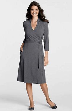 Lands End Women&39s Cotton Modal Wrap Dress $29.97