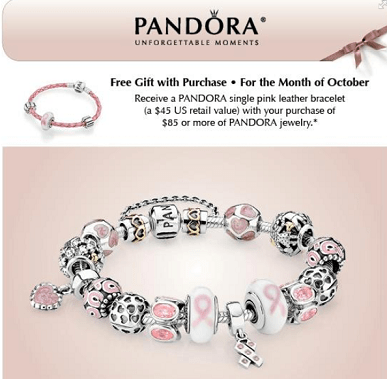 Pandora charms coupon discount code