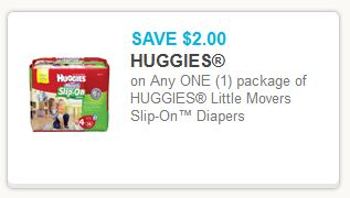 Huggies Slip On Diapers Coupon