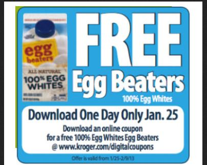 FREE Egg Beaters Kroger Deals: FREE Egg Beaters eCoupon – Today Only!
