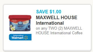 Maxwell House International Coupon