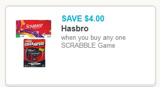 Scrabble Hasbro Coupon
