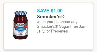 Smuckers Sugar Free Coupon