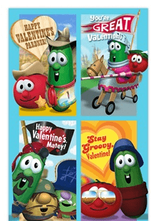 Veggie Tales Valentines Day Cards