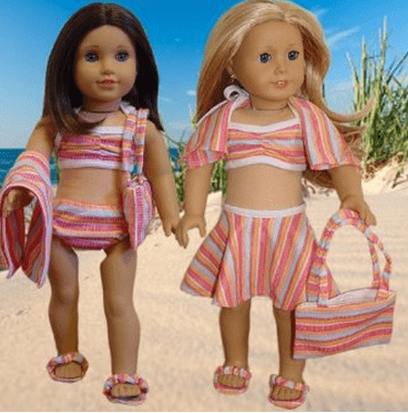 6-Piece Swimsuit Fits American Girl Dolls