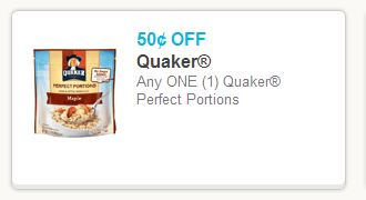 Quaker Perfect Portions Coupon