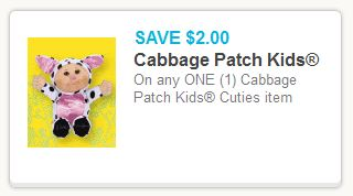Cabbage Patch Kid Coupon