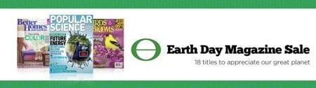 Earth Day Magazine sale
