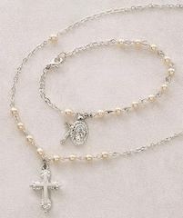 First Communion Bracelet & Necklace Set