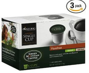 Green Mountain Hazelnut k-cup Deal