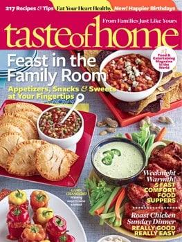 Taste of Home magazine sale
