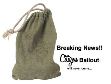 citizen bailout of taxes
