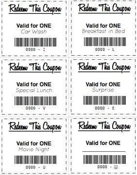 gift coupons printable