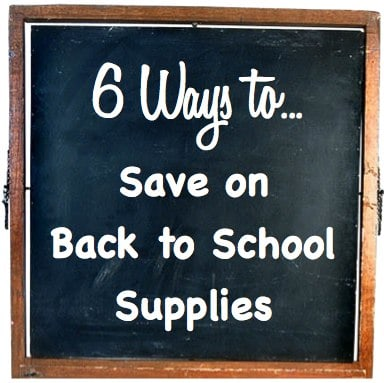 ways to save on back to school supplies