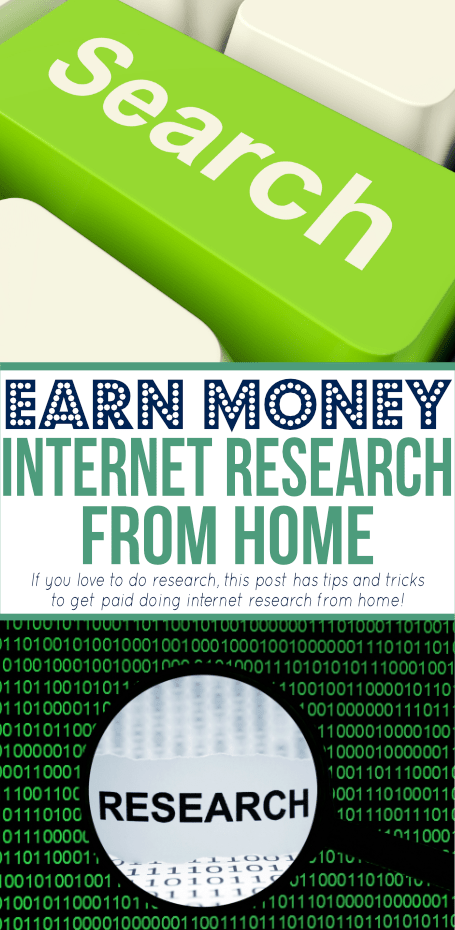 Are you a researching sleuth? You can get paid for doing internet research at home. Check out these and sites to consider if you want to cash in!