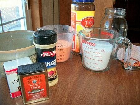 Spiced Tea Gift in a Jar ingredients