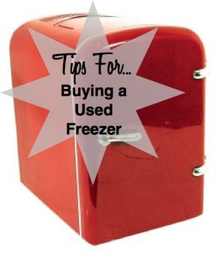 Tips for Buying a Used Freezer