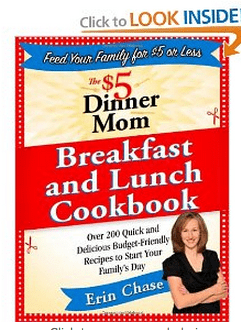 $5 Dollar Dinner Mom Breakfast Lunch Cookbook