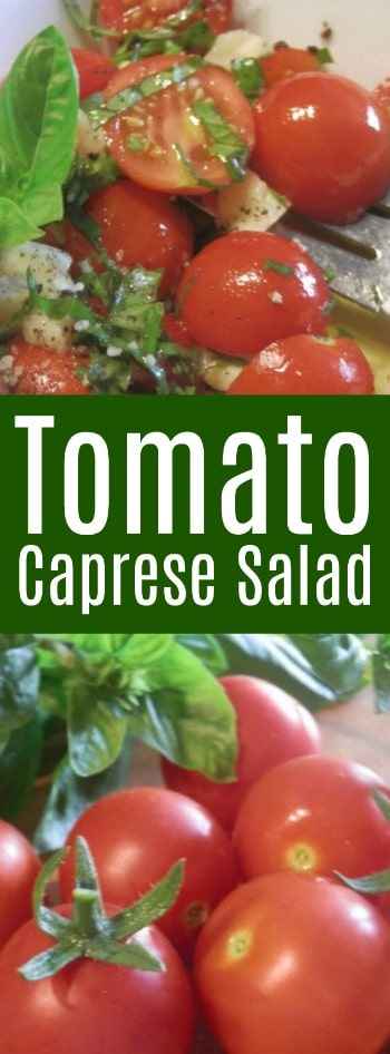 This tomato caprese salad is super easy to prepare! It is similar to what you would order at Carrabba's so it's a great copycat recipe!
