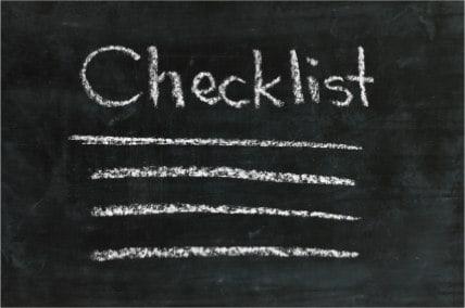 Chalkboard Checklist