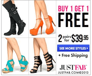 Just Fab Shoe Deal