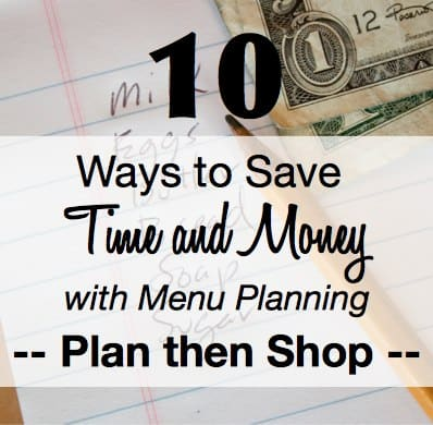 Meal Planning 101 Plan then Shop