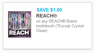 Reach Toothbrush Excludes Crystal