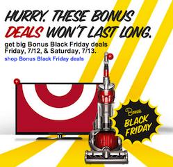 Target Black Friday in July Deals