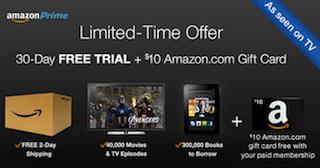 Amazon Prime Trial Membership Deal