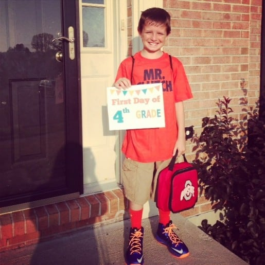 Caleb First Day of School