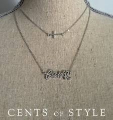 Cents of Style Word Necklace