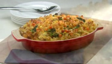 Easy Mac and Cheese Veggie Chicken Casserole Recipe