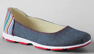 Lands End Womens Gatas Skimmer Shoes