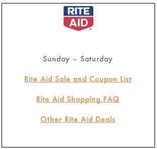 Rite Aid Shopping FAQ