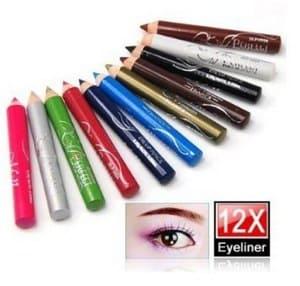 Amazon.com_ niceEshop(TM) 12 Assorted Colors Cosmetic Makeup Eyeliner Pencil Eyebrow Eye Liners_ Beauty