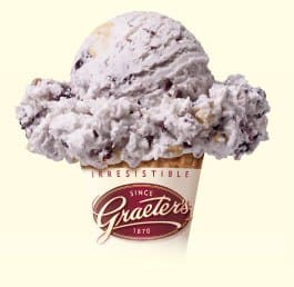Graeters Free Elenas Blueberry Ice Cream