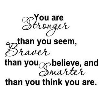 YOU ARE STRONGER Motivation Decals